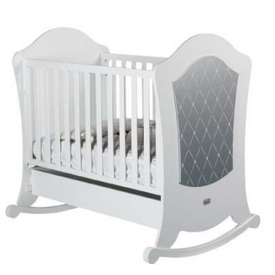 Купить Кроватка-качалка Micuna Alexa Relax (white/silver), белый, массив бука / МДФ, Кроватки без укачивания