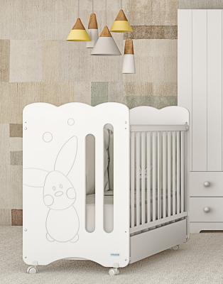 Купить Кроватка Micuna Copito (white), белый, массив бука / МДФ, Кроватки без укачивания