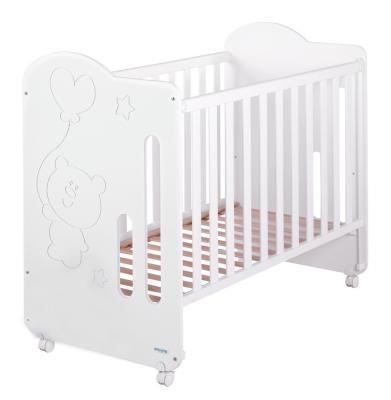 Купить Кроватка-качалка Micuna Globito (white), белый, массив бука / МДФ, Кроватки без укачивания