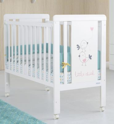 Кроватка-качалка Micuna Little Chick (white/pink)