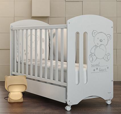 Кроватка-качалка Micuna Sweet Bear (white)