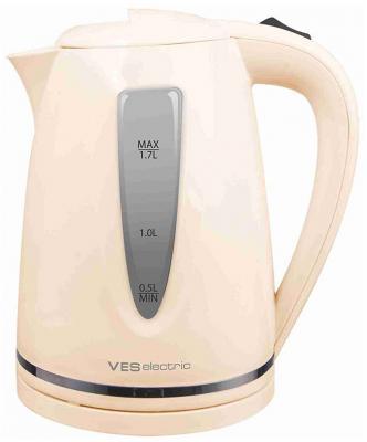 Купить Чайник VES Electric 1027-N 2200 Вт бежевый 1.7 л пластик