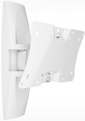 цена на Кронштейн Holder LCDS-5062 белый для ЖК ТВ 19-32 настенный от стены 105мм наклон +15°/-25° поворот 50° до 30кг