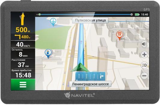 """Навигатор Navitel C500 5"""" 480x272 4GB microSDHC черный навигатор prology imap 4500 навител 4 3 480x272 microsd черный"""