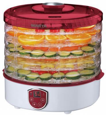 Сушилка для овощей и фруктов Marta MT-1951 красный рубин прозрачный