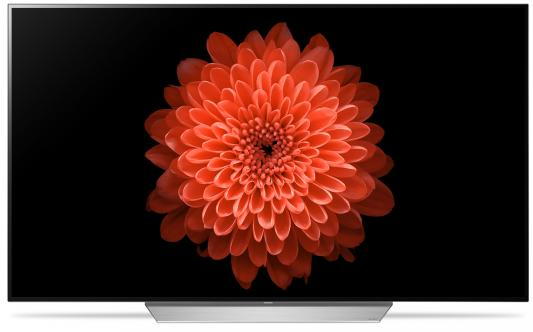 Телевизор LED LG 55 OLED55C7V титан/белый/Ultra HD/120Hz/DVB-T2/DVB-C/DVB-S2/3D/USB/WiFi/Smart TV (RUS) жк телевизор lg 55 oled55c7v oled55c7v