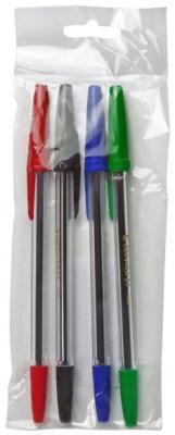 Набор шариковых ручек CARIOCA Corvina 51 4 шт разноцветный 40163/04