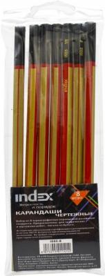 Набор графитовых карандашей Index I555-8 8 шт oster набор насадок pilot 8 шт 926 80