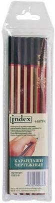 Набор графитовых карандашей Index I555-6 6 шт проводной телефон вектор st 555 07