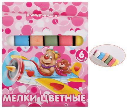Мелки школьные Action! FANCY FCC-6* 6 цветов 6 штук от 3 лет масляные карандаши action fancy 12 штук 12 цветов от 3 лет fop200 12