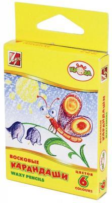 Масляные карандаши ЛУЧ КРОХА 6 цветов 6 штук от 3 лет масляные карандаши action fancy 12 штук 12 цветов от 3 лет fop200 12