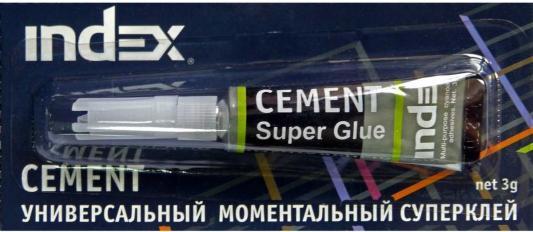 Клей моментальный Index Cement 3 гр. ISG0103 клей канцелярский index isgr110 110 гр