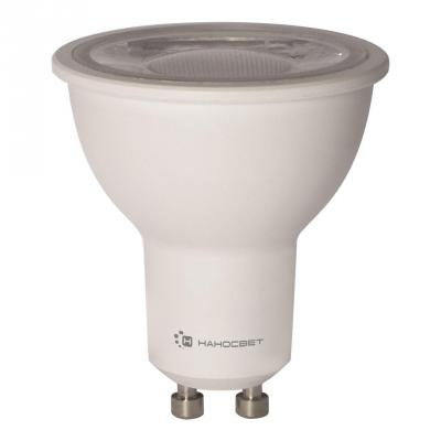 Лампа светодиодная полусфера Наносвет L243 GU10 8W 4000K LH-MR16-D-8/GU10/840 лампа светодиодная диммируемая gu10 8w 4000k полусфера прозрачная lh mr16 d 8 gu10 840 l243