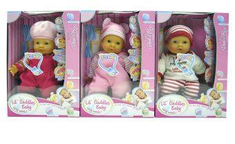 Купить Пупс Shantou Gepai Cuddles Baby 30 см мягкая со звуком ассортимент, 15226, пластик, текстиль, Мягконабивные куклы