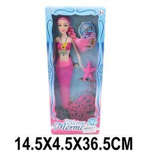 """Кукла Shantou Gepai """"Русалка"""" (свет), розовая 29 см светящаяся"""