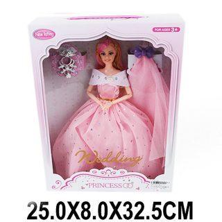 """Кукла Shantou Gepai """"Невеста в розовом платье"""" 29 см шарнирная XD17-3 недорого"""