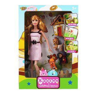 Кукла Shantou Gepai Жанетт и забавные друзья, в кремовом платье 29 см шарнирная M6583-3 кукла yako m6583 1