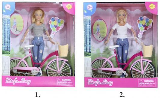 Кукла DEFA LUCY Дефа Люси - Летние прогулки с велосипедом 29 см ассортимент, 8361 кукла defa lucy летние покупки 8220