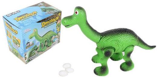 Интерактивная игрушка Shantou Gepai Динозавр - Брахиозавр от 3 лет зелёный фигурки игрушки amico динозавр брахиозавр