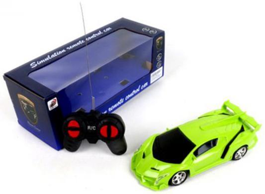 """Машинка на радиоуправлении Shantou Gepai """"Гоночная"""" пластик от 6 лет зелёный 4 канала, свет"""