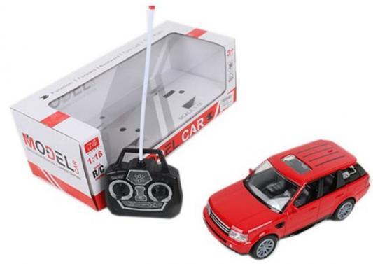 Машинка на радиоуправлении Shantou Gepai Model Car Джип пластик от 3 лет красный 4 канала, свет, 1:18, 501 машинка на радиоуправлении shantou gepai auto world от 3 лет зелёный пластик 4 канала свет 1 12