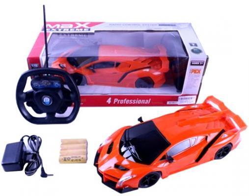 Машинка на радиоуправлении Shantou Gepai Max Extreme, пластик от 3 лет оранжевый