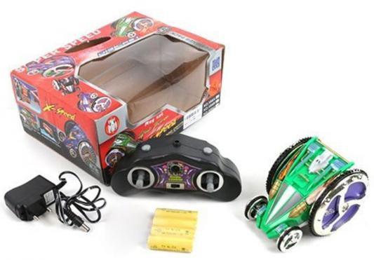 """Машинка на радиоуправлении Shantou Gepai """"Перевертыш"""" - X Speed пластик от 6 лет зелёный 4 канала, свет, 588A"""
