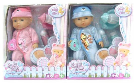 Кукла-младенец Shantou Gepai 09206-1 30 см писающая пьющая в ассортименте кукла младенец shantou gepai 8018l4 35 см писающая пьющая