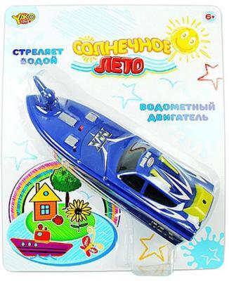 Катер Shantou Gepai Солнечное лето с брандспойтом синий 24 см M6500 игрушка shantou gepai наша игрушка катер солнечное лето m6514
