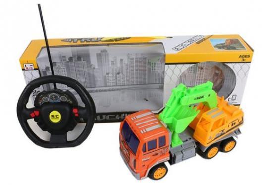 Машинка на радиоуправлении Shantou Gepai Грузовик с ковшом от 3 лет разноцветный машинка на радиоуправлении shantou gepai super model ассортимент от 3 лет пластик 1 22