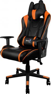 Кресло компьютерное игровое Aerocool AC220-BO черно-оранжевый