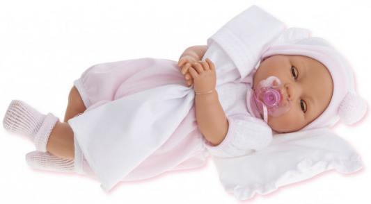 Кукла Munecas Antonio Juan Габи в розовом 1444P 37 см плачущая munecas antonio juan кукла лучия в розовом 37 см munecas antonio juan