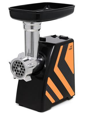 Электромясорубка KITFORT KT-2101-3 1500 Вт чёрный оранжевый