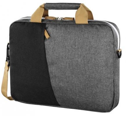 """Сумка для ноутбука 15.6"""" HAMA Florence (00101568) полиэстер черный серый цена и фото"""