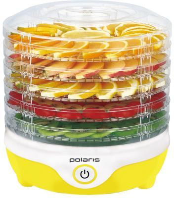 Сушилка для овощей и фруктов Polaris PFD 2405D жёлтый белый прозрачный