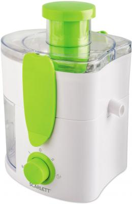Соковыжималка Scarlett SC-JE50P01 600 Вт пластик белый зелёный
