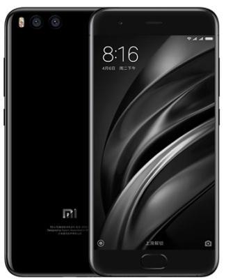 Смартфон Xiaomi Mi 6 черный 5.15 64 Гб NFC LTE Wi-Fi GPS 3G смартфон alcatel onetouch 7070 pop 4 6 золотистый 6 16 гб wi fi gps 3g lte