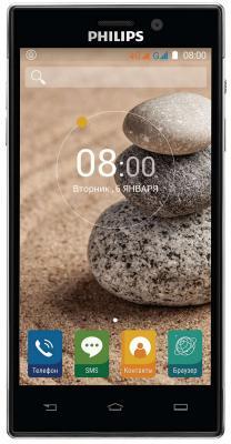 Смартфон Philips Xenium V787 черный 5 32 Гб LTE Wi-Fi GPS 3G смартфон micromax q334 canvas magnus черный 5 4 гб wi fi gps 3g