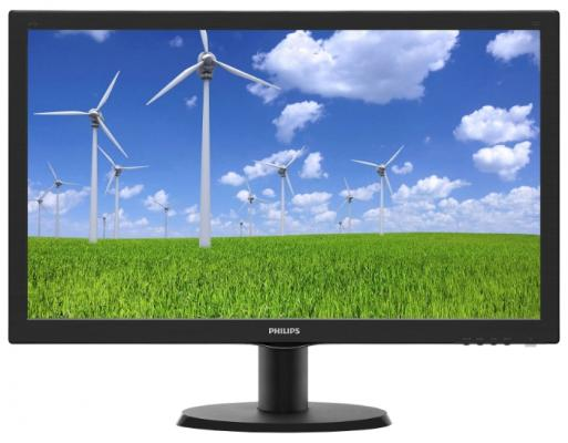 Монитор Philips 23.6 243S5LSB5 (00/01) черный TFT LED 5ms 16:9 DVI матовая 250cd 1920x1080 D-Sub FHD 3.41кг пылесос с пылесборником philips fc8383 01