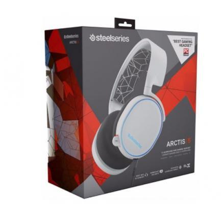 Игровая гарнитура проводная Steelseries Arctis 5 белый