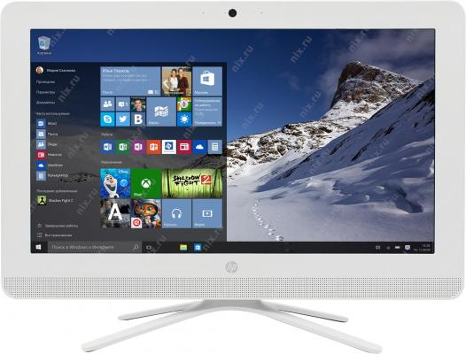 """Моноблок 20"""" HP 20-c044ur 1600 x 900 AMD E-E2-7110 4Gb 500Gb AMD Radeon R2 Windows 10 белый 1EE92EA"""