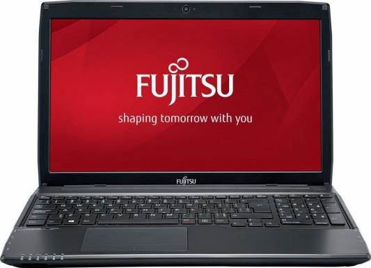 "Ноутбук Fujitsu LifeBook A555 Core i3 5005U/4Gb/500Gb/DVD-RW/Intel HD Graphics/15.6""/FWXGA (1366x768)/Windows 10 Home Multi Language 64/black/WiFi/BT/Cam/4500mAh"