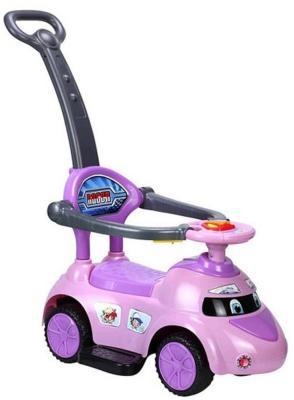 """Каталка-машинка Shantou Gepai """"Скорость"""" фиолетовый от 1 года пластик свет, звук, Q02-3P"""