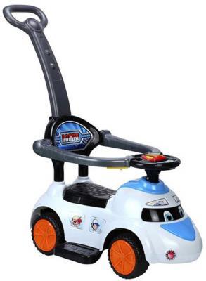 """Каталка-машинка Shantou Gepai """"Скорость"""" белый от 1 года пластик свет, звук, Q02-3W"""