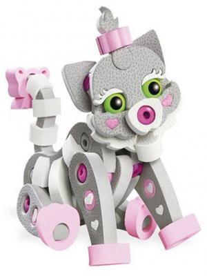 Купить Мягкий конструктор Soft Blocks Кошечка 64 элемента, Мягкие конструкторы для детей