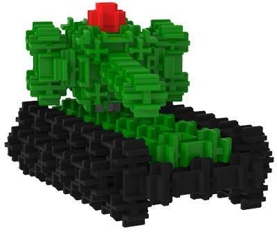 Конструктор FANCLASTIC Тяжелый танк F1037 18 элементов конструктор fanclastic f1018 зеленая буква