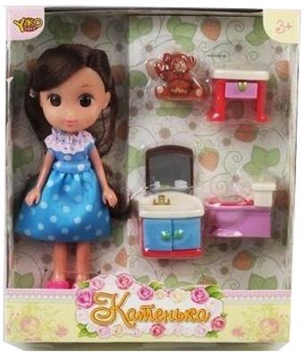 Кукла Shantou Gepai Катенька. Ванная комната 16.5 см