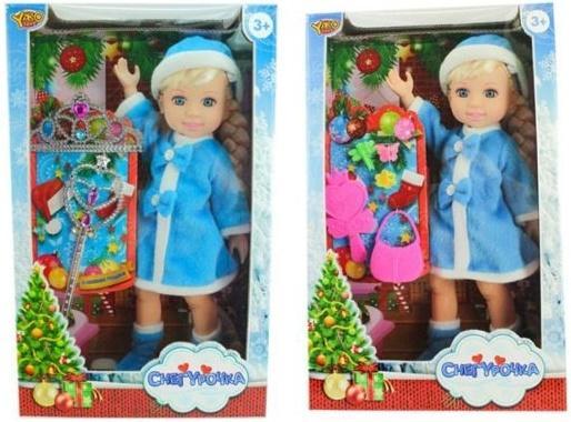 Кукла Shantou Gepai Джемми-Снегурочка в синем, с аксессуарами в ассортименте кольцо капель авантюрин