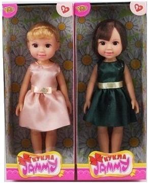 Кукла Shantou Gepai Джемми в атласном платьице 32 см в ассортименте цена