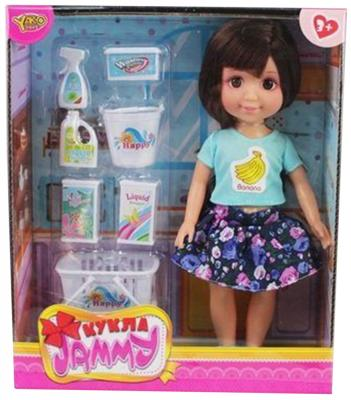 Кукла Shantou Gepai Джемми с аксессуарами для уборки 25 см M6605 кукла yako jammy доктор m6309